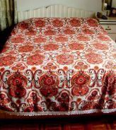 Retro Bedspread with Fringe - Double or Single Bed