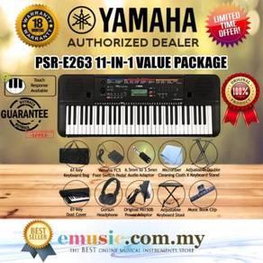 Yamaha PSR-E263 61-key Keyboard Value package