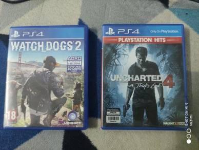 Uncharted 4 + Watch dog 2