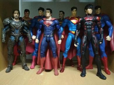 Superman 7inch act fig alls 8pcs