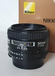 NIKON NIKKOR 50mm f1.4 D AF Fast Prime Lens