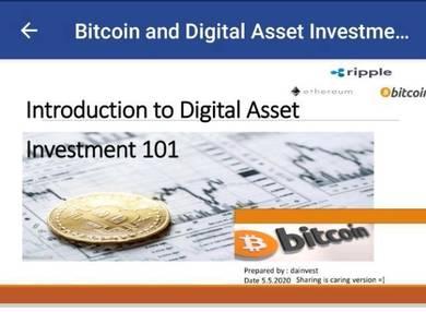 Digital Asset Investment Bitcoin