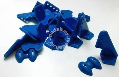 Pom Horns 20x27mm ( 10pcs/set-Blue ) 8641