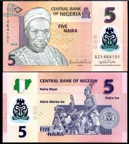 Nigeria 5 naira 2009 p new polymer unc