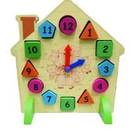 Educational toy clock with magnetic numbers