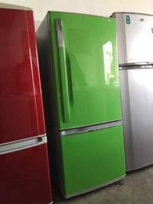 Panasonic green 2doors fridge Peti Sejuk Ais