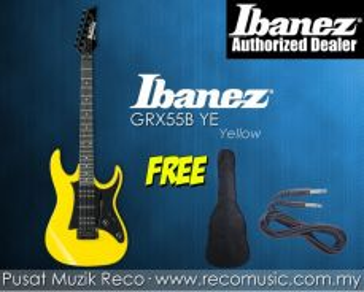 New Ibanez Electric Guitar GRX55B YE - Yellow