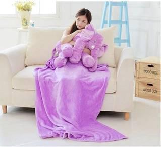Cute Elephant Soft Plush Toy Pillow (Purple)