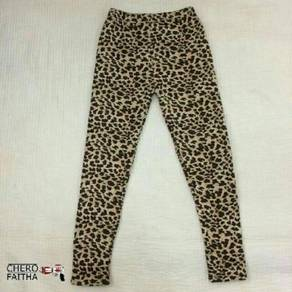 Leopard pant tight wool inside pant