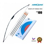 Arrouha Archery Package Busur Jati Tunggal 25lbs