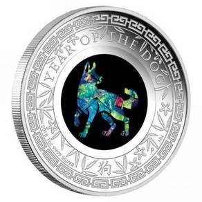Opal 2018 Dog 1oz Silver Proof Coin