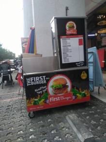Stall Burger Untuk Dilepaskan