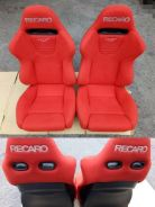 Seat recaro spjj lumber pum red alcantara tiptop