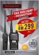 Walkie talkie original cheap promotion price om800