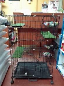 Sangkar Kucing Baru - New Cat Cage 3 Tingkat