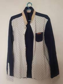 Banmon dark blue collared long sleeve (slim fit)