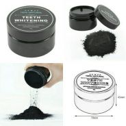 Charcoal and gel whitening teeth