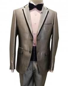 2 Button Silver Men's Suits #K1321