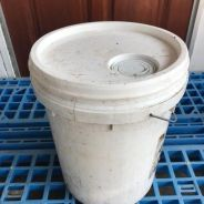 White pail (with hole)