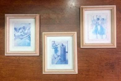 Vintage Ballerina Frames 3pc set