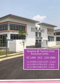 New Semi D Factory LA 11907sf (70x170sf) Saujana Teknologi Park Rawang