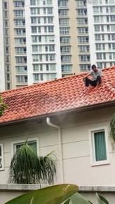 Ubahsuai rumah atap bocor paip wiring