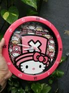 One piece x hello Kitty wall clock