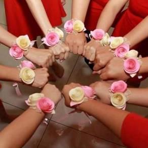 Bridesmaid Paper Flowers Wrist Corsage