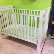 Baby cot wooden 4 in 1 convertible