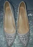 Rhinestone Heels Size 7(38)(Used for 6 hours only)