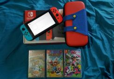 Nintendo Switch Fullset + 3 Games