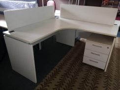 L SHAPE TABLE with DRAWER