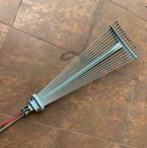 Stainless steel extension adjustable garden rake