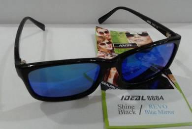 IDEAL SUNGLASSES(8884 shine bck Blue Mirror)
