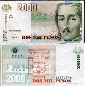 Colombia 2000 pesos 2005 p 451 unc