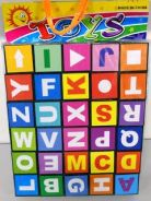 Alphabets and numbers blocks playset toy
