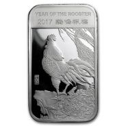 Year of the Rooster 2017 1 oz .999 Silver Bar