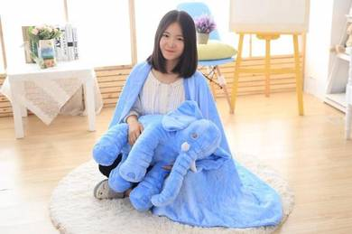 Cute Elephant Soft Plush Toy Pillow (BLUE)