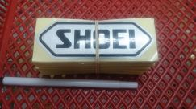 Stiker cutting shoei