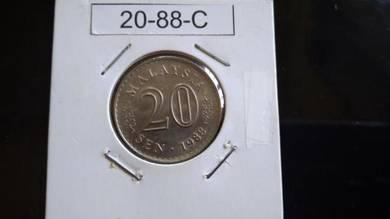 Coin Ori Luster - 20sen 1988 - C