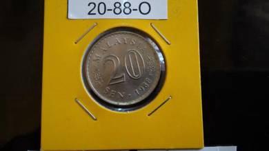 Coin Ori Luster - 20sen 1988 - O