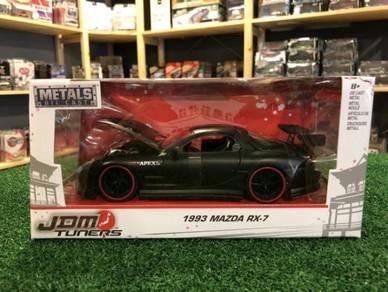 Jada Metals '93 Mazda RX-7 #98676 Matte Black 1:24