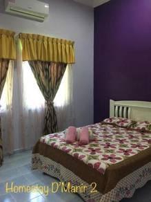 Homestay Manir Kuala Terengganu 3 bilik & 2 bilik