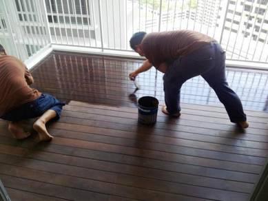 Repair lantai timber deck