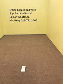 Classic Plain Design Carpet Roll with Install g5h/