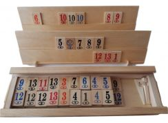 New complete wooden rummikub family game