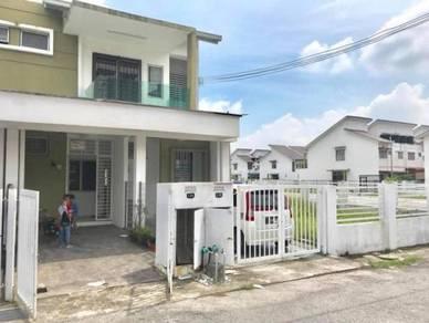 Cornerlot with land townhouse pearl villa bsp 4 saujana putra