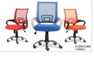 Breathable Swivel Mid Mesh Backrest Chair