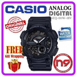 Casio aeq-110w-1bv analog digital jam tangan