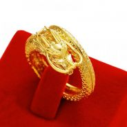 Amazak Dragon Ring Gold Plated